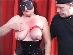 MySexy Piercings Heavy pierced grown up slave pierced pussy an