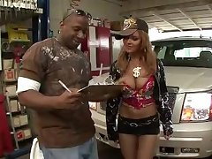 Janet Mason- interracial car rims-bling bling