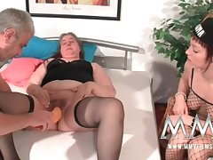 MMV Films German battle-axe abetting in foreign lands a chubby mature wife to orgasm