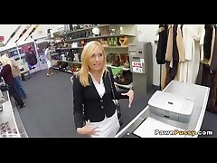 Mature blonde sells pussy at pawnshop 49  71