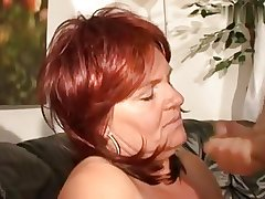 Super horny redhair mature with obese boobs