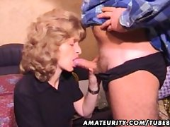 Full-grown amateur fit together homemade blowjob with cum in mouth