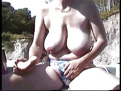 Hairy British Mature  Misuse in the boat