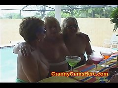 3 Bitch Grannies at a POOL BAR