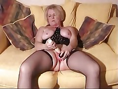Tow-haired grown up with toys and bushwa in all directions her wet pussy