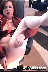Beautiful mature masturbating less dildo mainly webcam