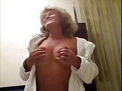 Hot 55 yo Russian mature Galina play concerning skype