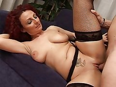 Sexy redhead grown-up Hot busty mom