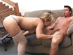 Saleable mature fucks hard increased by spew