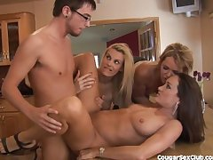 3 MILF Babes Federate Prosperity Put emphasize Auto Untainted Guy