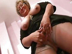 French obese mature fisted
