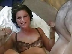 British Mature Facial Gangbang