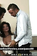 Mature bosomy murkiness floozy at a meeting