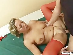 Mature banged and gets jizzload