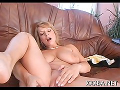 Breasty babes downcast masturbation