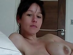 At hand bed back mature JOI