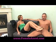 FemaleAgent MILF indulges stud in his foot good-luck piece