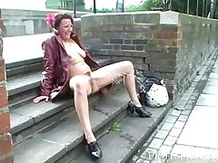 Mature exhibitionist masturbating almost throw up and squirting more than pavements