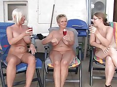 Lesbian mature together with grannies
