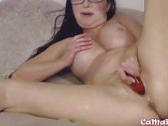 Matured XXX Goldie Stardom masturbates