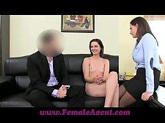 FemaleAgent Anal creampie be advisable for Romanian cutie