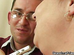 Busty mature double penetration POV