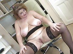 Posh full-grown mom alongside big boobs increased by big ass