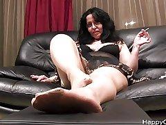 Alisa overbearing heels steps + nylon foot chaff