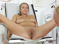 Blistering Tracy Gets Her Pussy Moved With Before Dirty doctors Office.  HD
