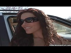 Soccer milf Victoria Valentino gets picked beside from the parking extent  HD