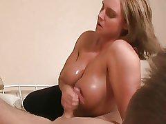 TitFuck  Handjob Blonde Of age