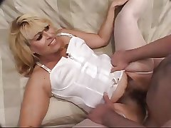 muted adult in white lingerie