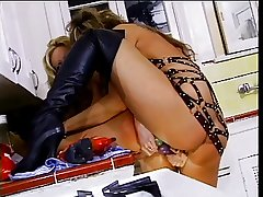 Mature lesbos fuck greater than kitchen counter