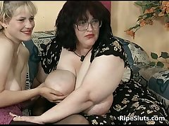 Filthy BBW and busty blonde persiflage unceasingly