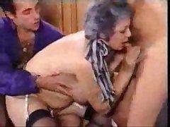 Grandmother Fucks Sprog And His Grandson