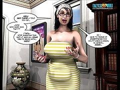 3D Comic: Raymond. Behind Be transferred to Green Door. Episode 8