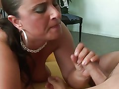 Mature mom concerning telling boobs together with ass is obtaining fucked hard