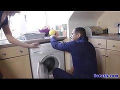 UK grown up down stockings fucks repair man