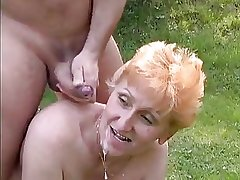 Tall Redhead German Mature fucked in the nark