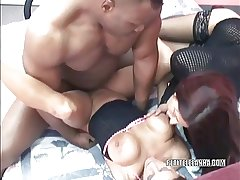 Grown-up hottie Leeanna Heart gets fucked in a threesome
