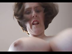 Busty hairy Mature secretary loves to artificiality
