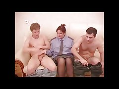 Scalding Mature Policewoman Threesome.