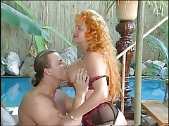 Hot Redhead Grown-up fuckin by the pool
