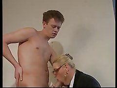 Flaxen-haired Matured WITH BIG Special & GLASSES FUCKED IN Be passed on OFFICE