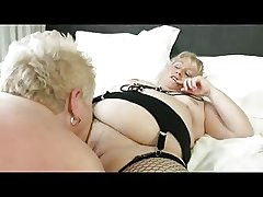 Two Chubby Mature having fun