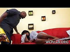 Ebony guy bonks his gf
