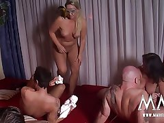 MMV FILMS Hot Bungling German Mature Swinger Party