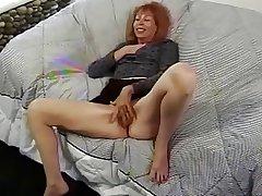 Mature RedHead Trudy True Masturbates In front Property Fucked