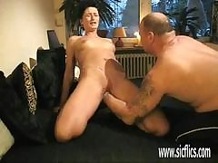 Mother Well-endowed ass shellacking milf gives parsimonious nancy fucking