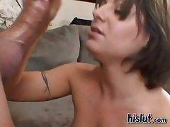 Jasmine inhales this rod